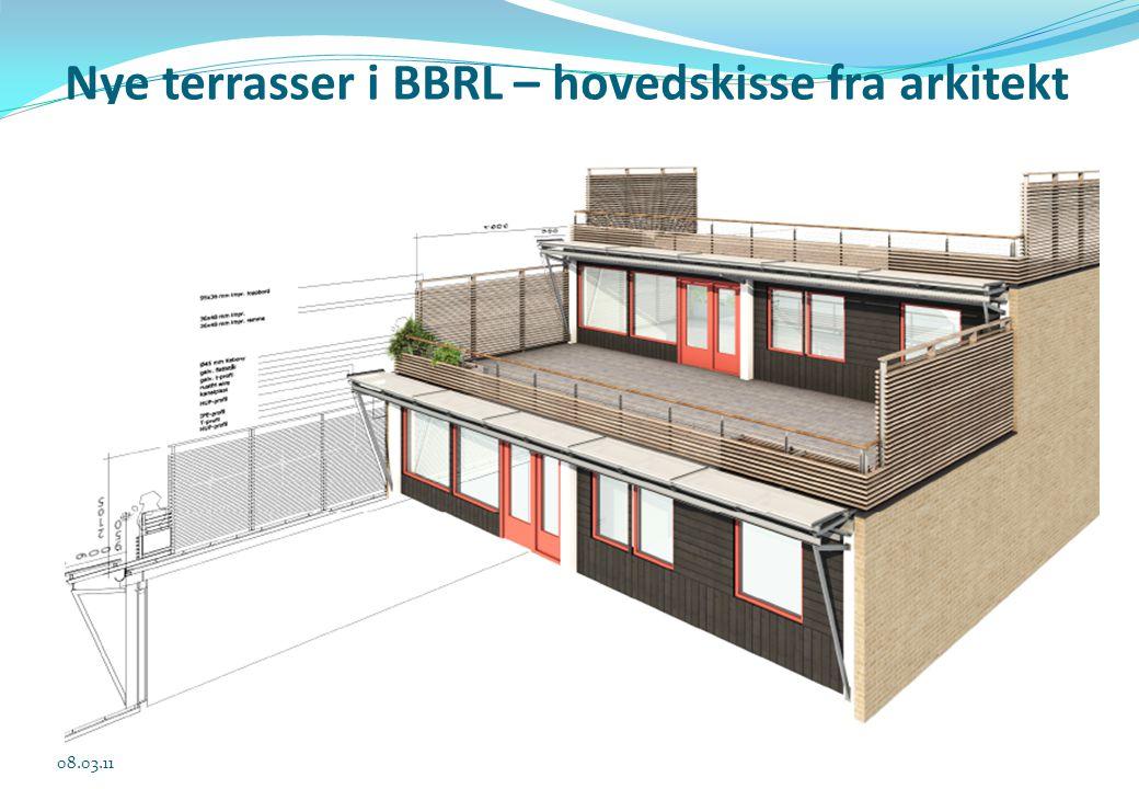 Nye terrasser i BBRL – hovedskisse fra arkitekt