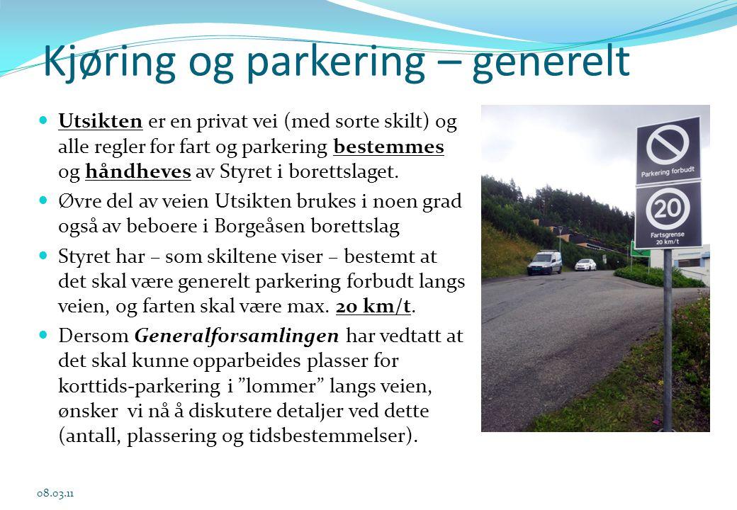 Kjøring og parkering – generelt