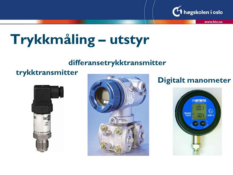 Trykkmåling – utstyr differansetrykktransmitter trykktransmitter