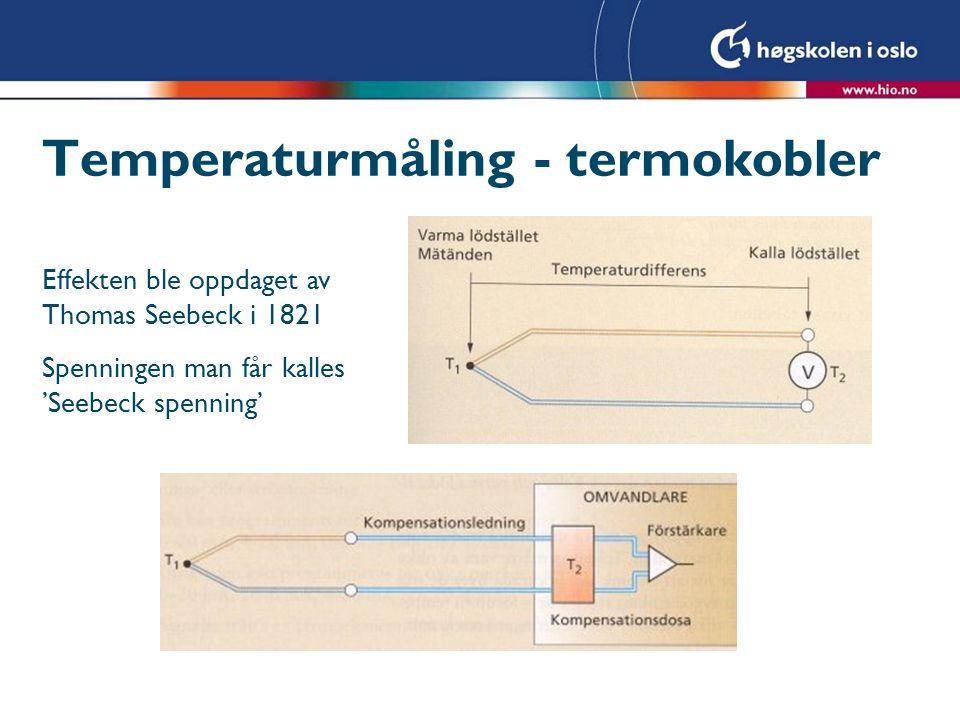 Temperaturmåling - termokobler