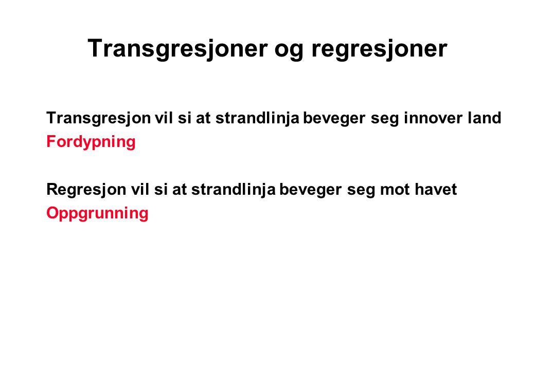 Transgresjoner og regresjoner