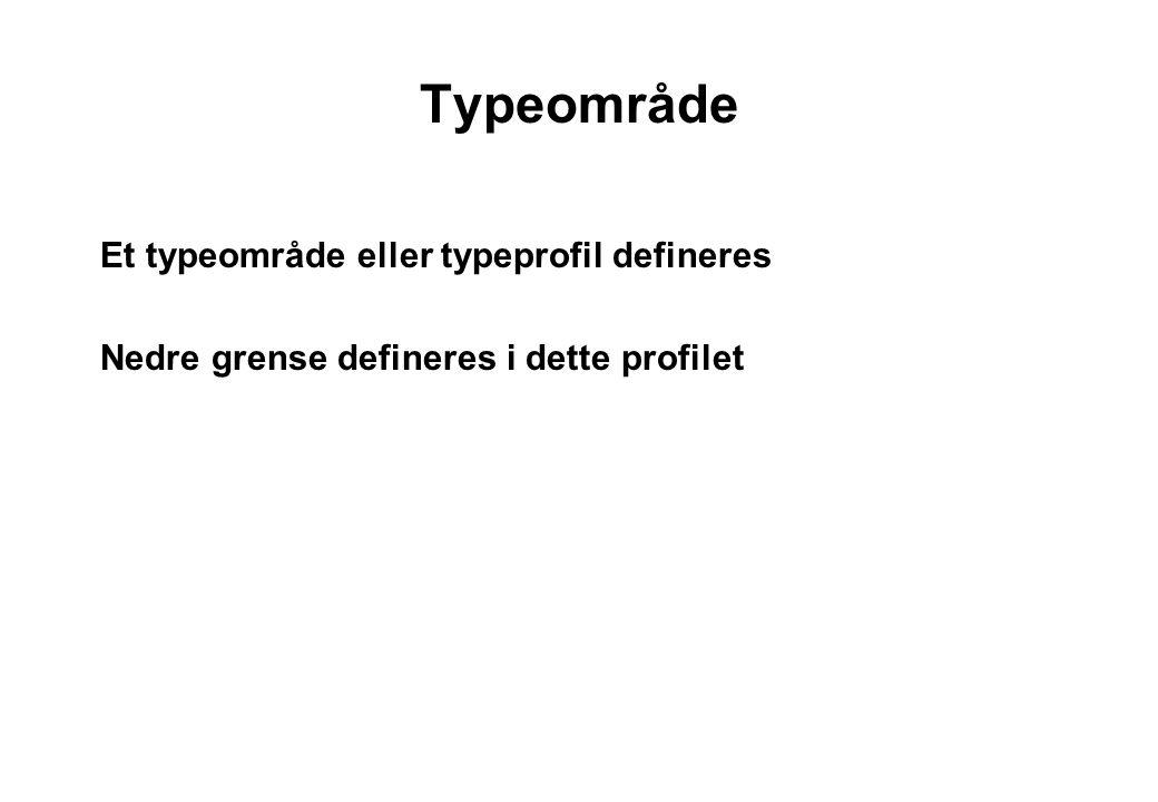 Typeområde Et typeområde eller typeprofil defineres