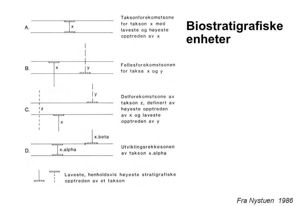 Biostratigrafiske enheter