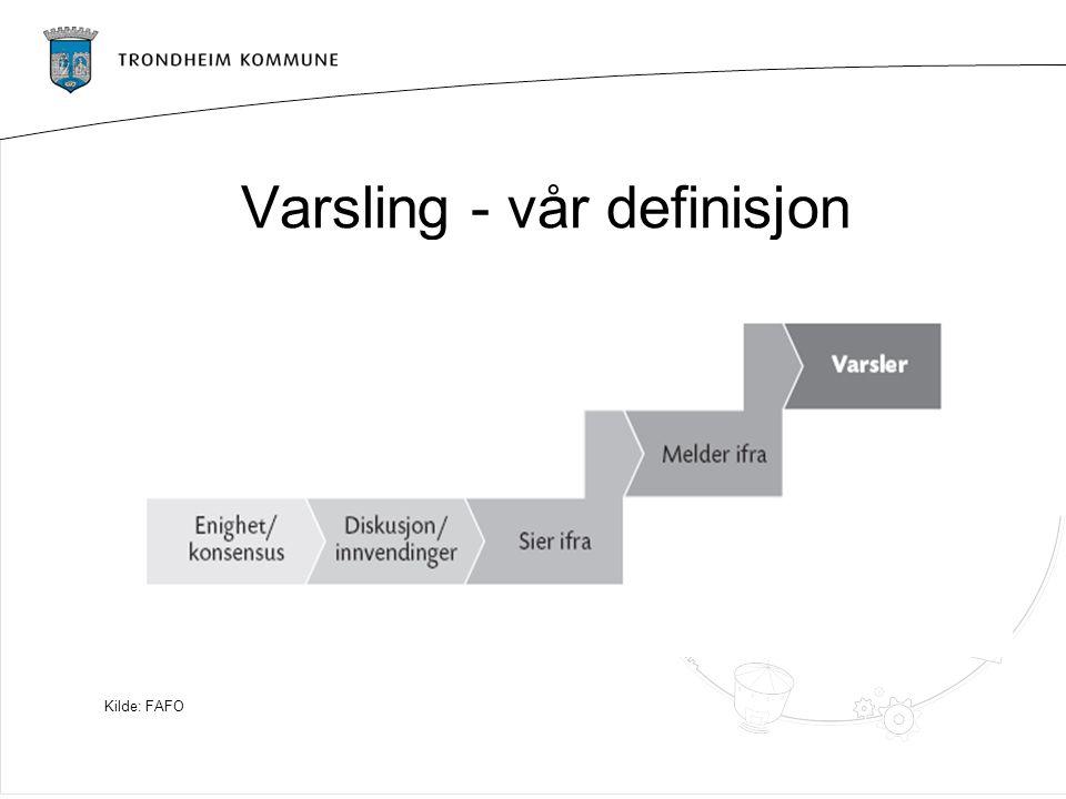 Varsling - vår definisjon