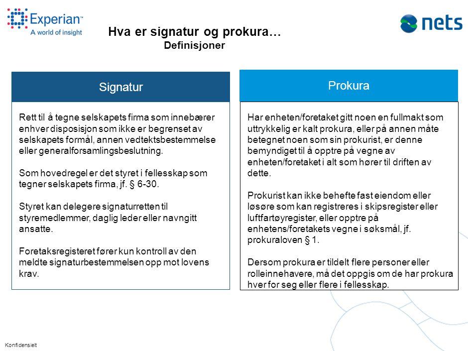 Hva er signatur og prokura…. Eksempler