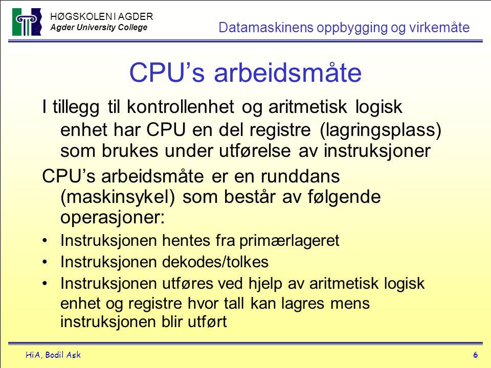 CPU's arbeidsmåte