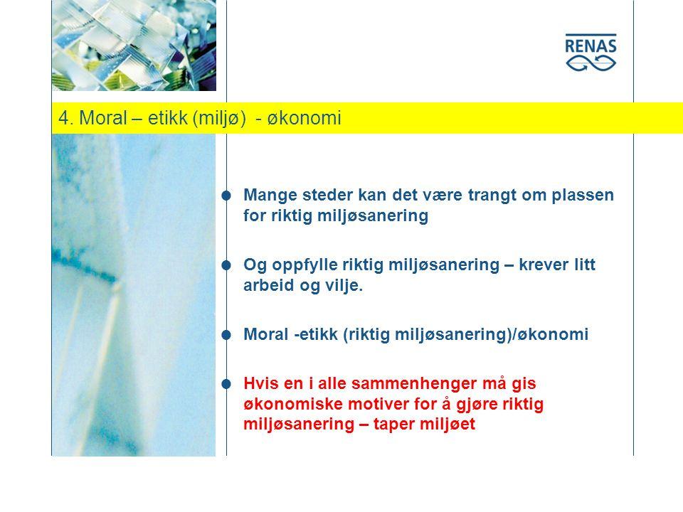 4. Moral – etikk (miljø) - økonomi