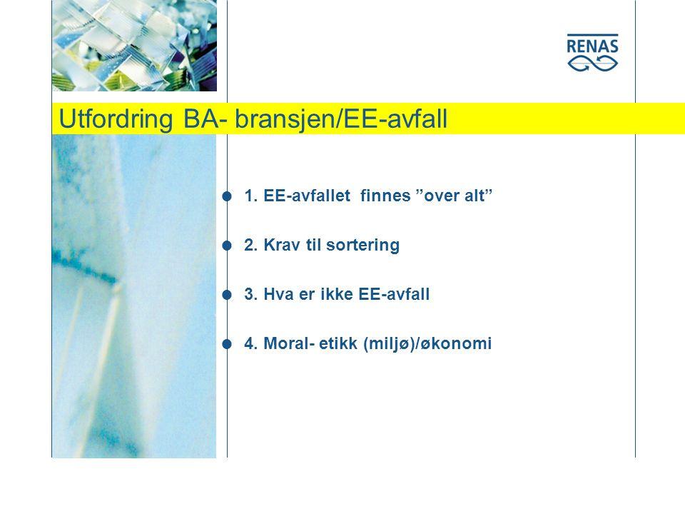 Utfordring BA- bransjen/EE-avfall