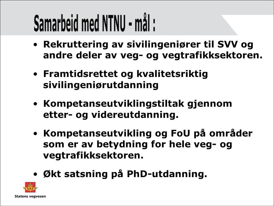 Samarbeid med NTNU - mål :