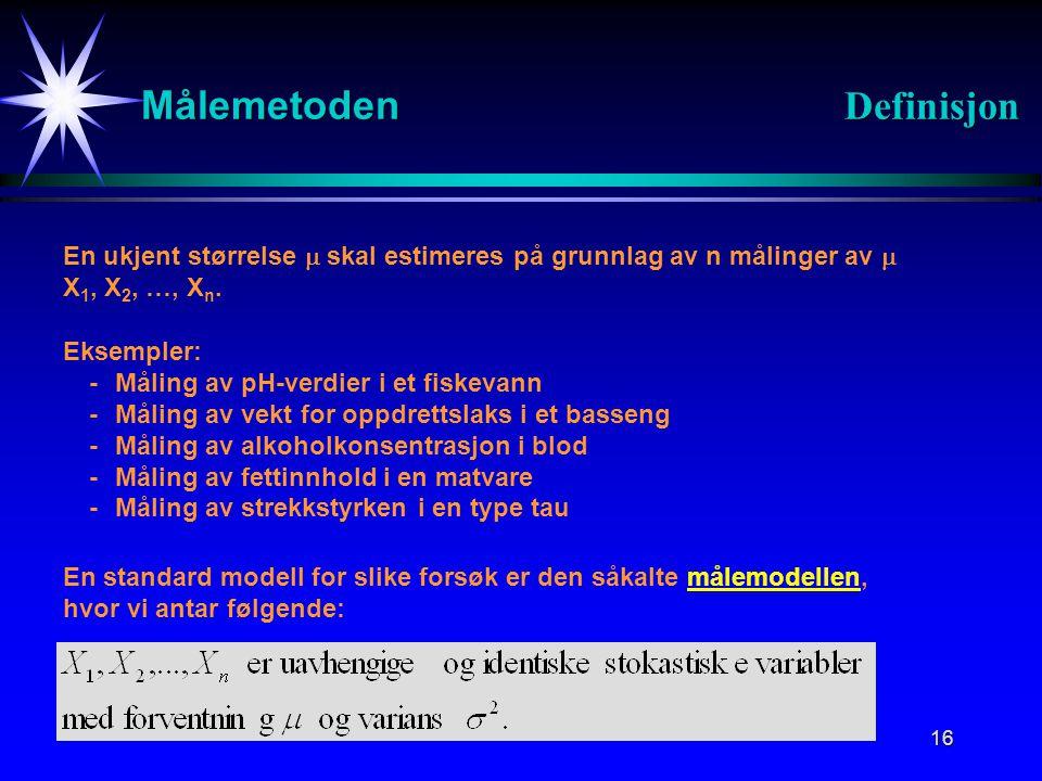 Målemetoden Definisjon