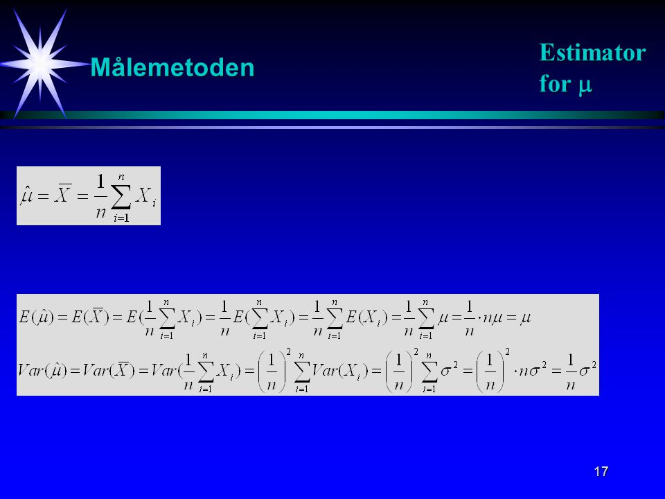 Målemetoden Estimator for 