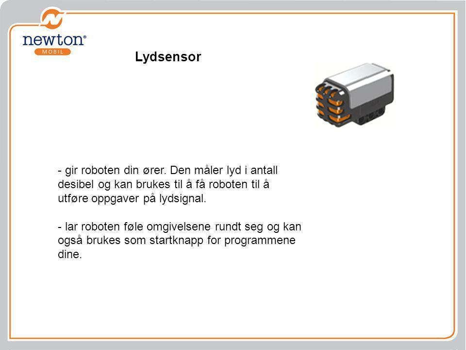 Lydsensor - gir roboten din ører. Den måler lyd i antall