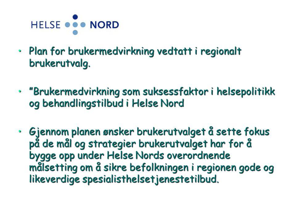 Plan for brukermedvirkning vedtatt i regionalt brukerutvalg.