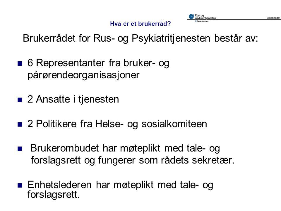 Brukerrådet for Rus- og Psykiatritjenesten består av: