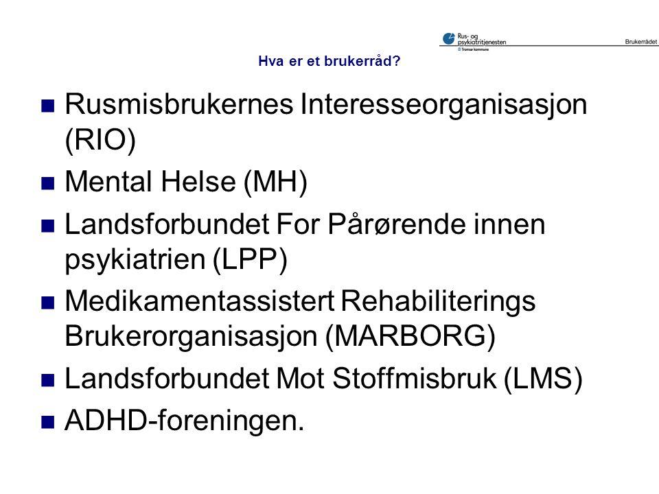 Rusmisbrukernes Interesseorganisasjon (RIO) Mental Helse (MH)