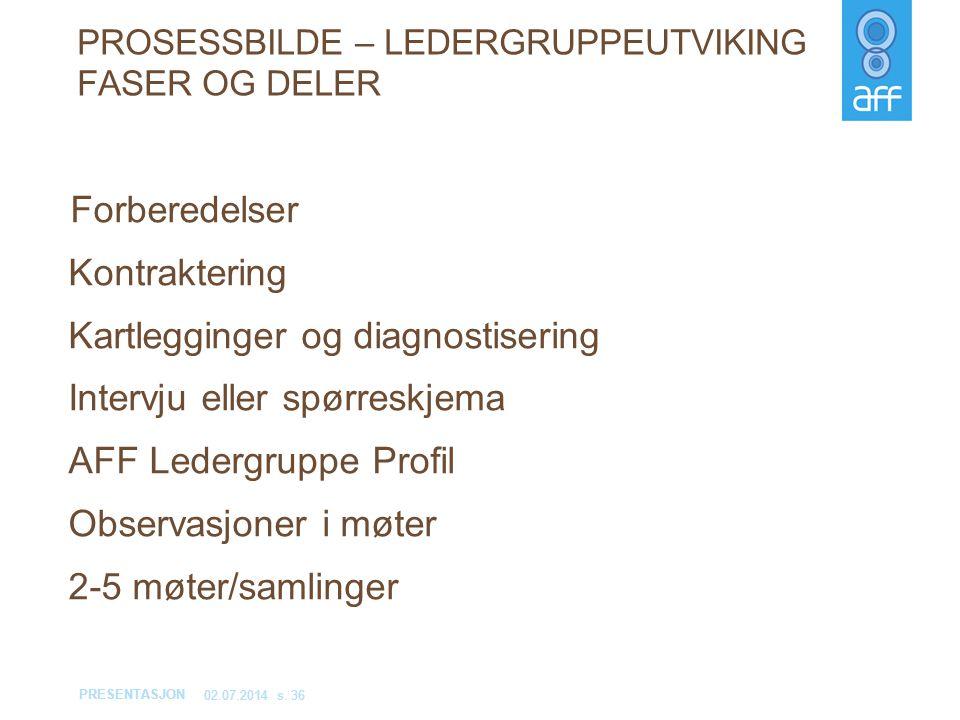 PROSESSBILDE – LEDERGRUPPEUTVIKING FASER OG DELER