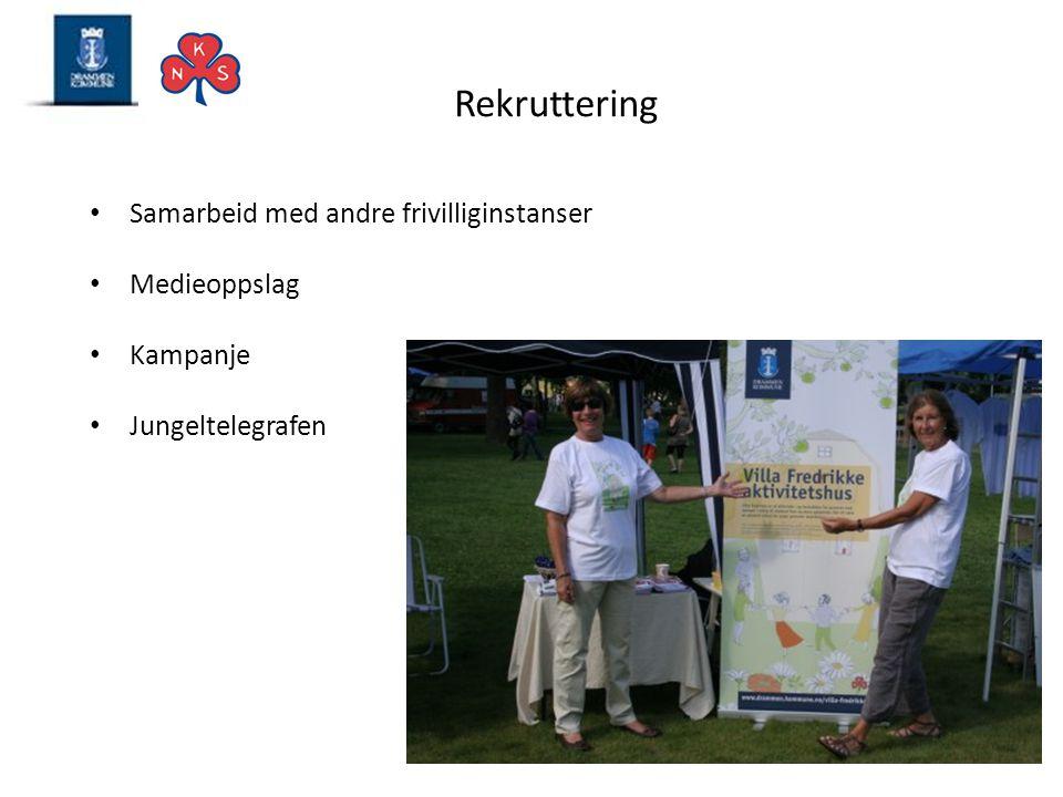 Rekruttering Samarbeid med andre frivilliginstanser Medieoppslag