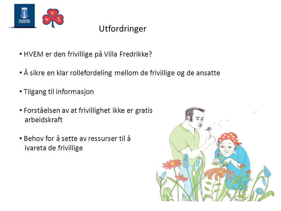 Utfordringer HVEM er den frivillige på Villa Fredrikke