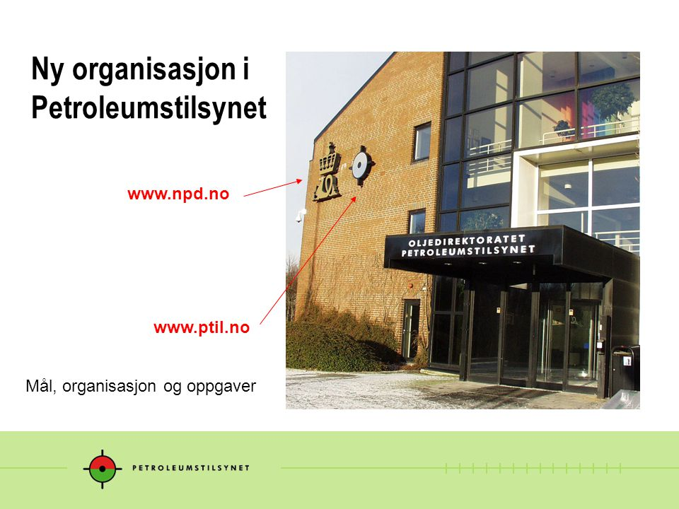 Ny organisasjon i Petroleumstilsynet