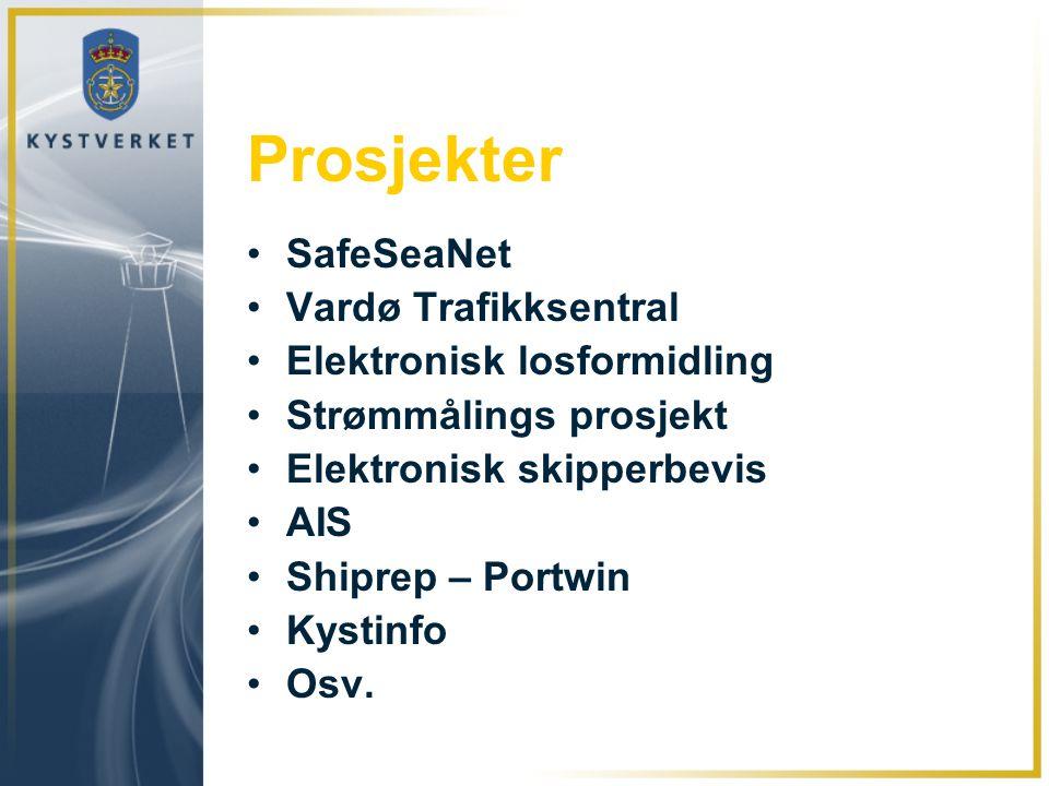 Prosjekter SafeSeaNet Vardø Trafikksentral Elektronisk losformidling