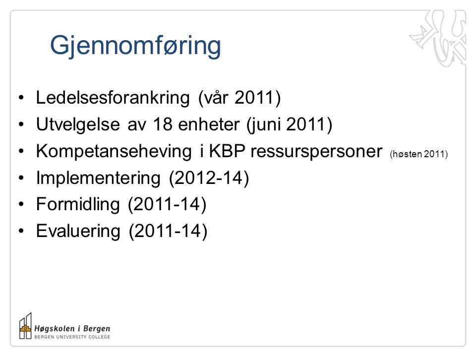 Gjennomføring Ledelsesforankring (vår 2011)