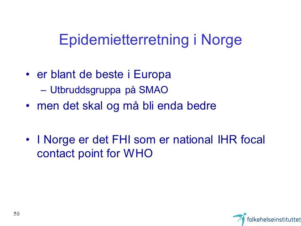 Epidemietterretning i Norge