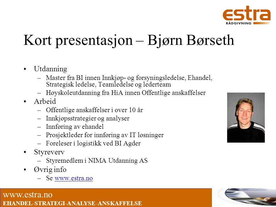 Kort presentasjon – Bjørn Børseth
