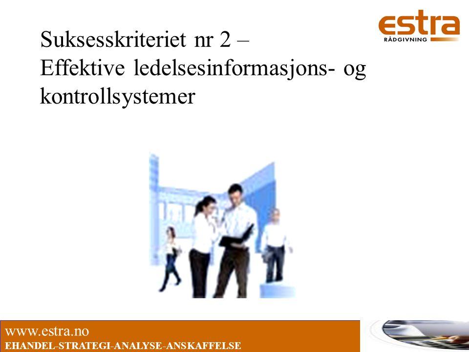 Suksesskriteriet nr 2 – Effektive ledelsesinformasjons- og kontrollsystemer