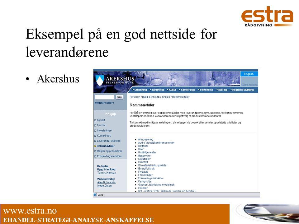 Eksempel på en god nettside for leverandørene