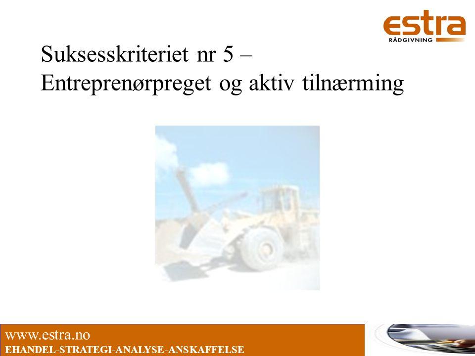 Suksesskriteriet nr 5 – Entreprenørpreget og aktiv tilnærming
