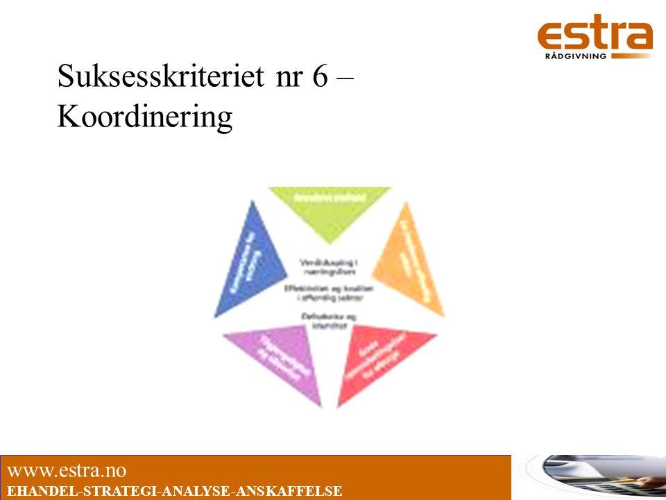 Suksesskriteriet nr 6 – Koordinering