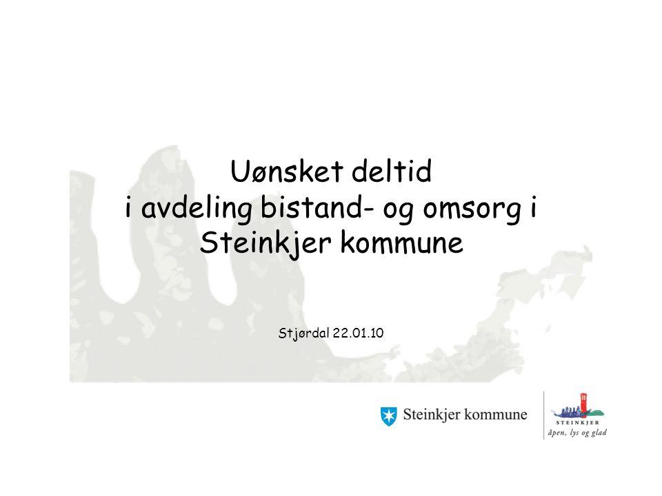 Uønsket deltid i avdeling bistand- og omsorg i Steinkjer kommune