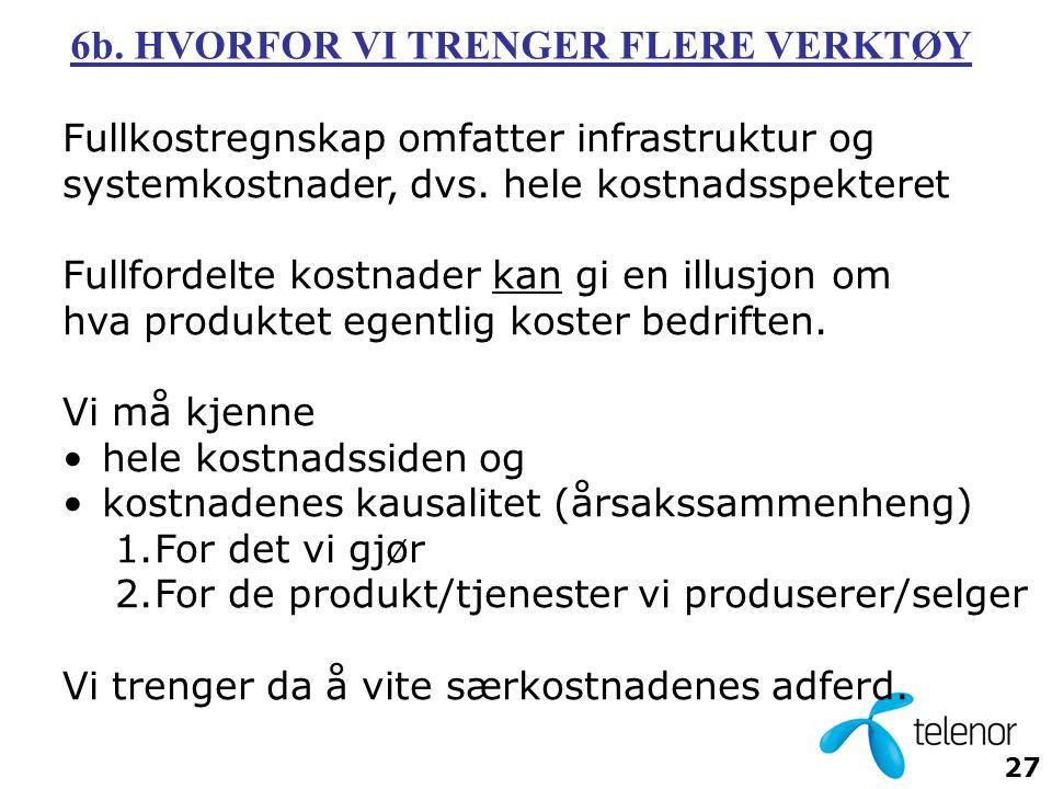 6b. HVORFOR VI TRENGER FLERE VERKTØY
