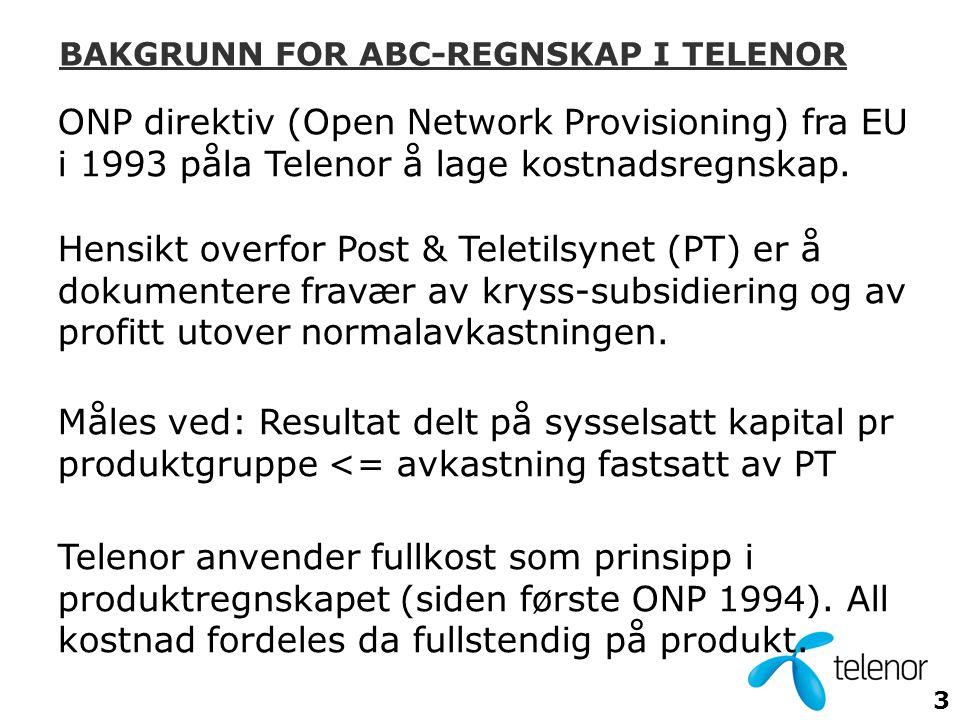 BAKGRUNN FOR ABC-REGNSKAP I TELENOR