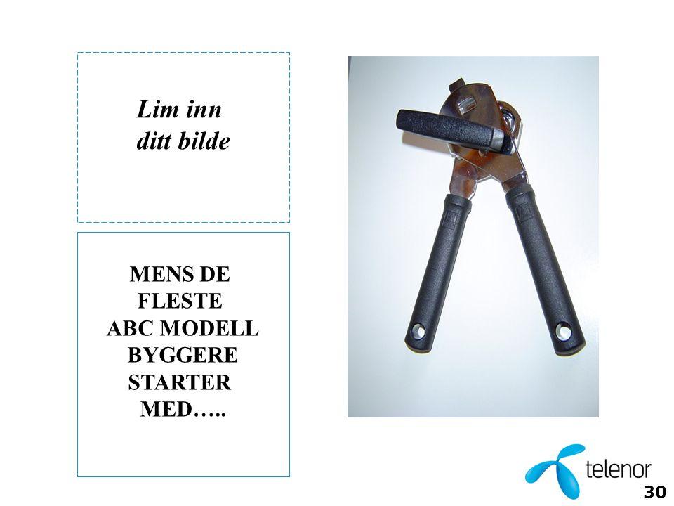 Lim inn ditt bilde MENS DE FLESTE ABC MODELL BYGGERE STARTER MED…..