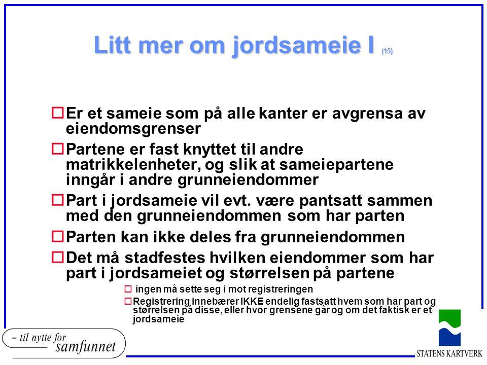 Litt mer om jordsameie I (15)