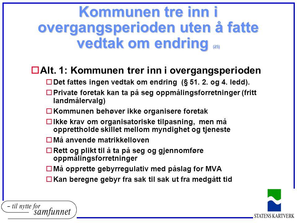 Kommunen tre inn i overgangsperioden uten å fatte vedtak om endring (25)
