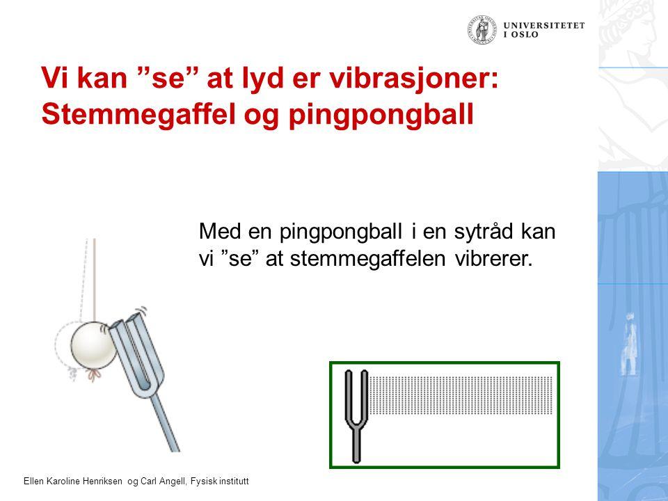 Vi kan se at lyd er vibrasjoner: Stemmegaffel og pingpongball