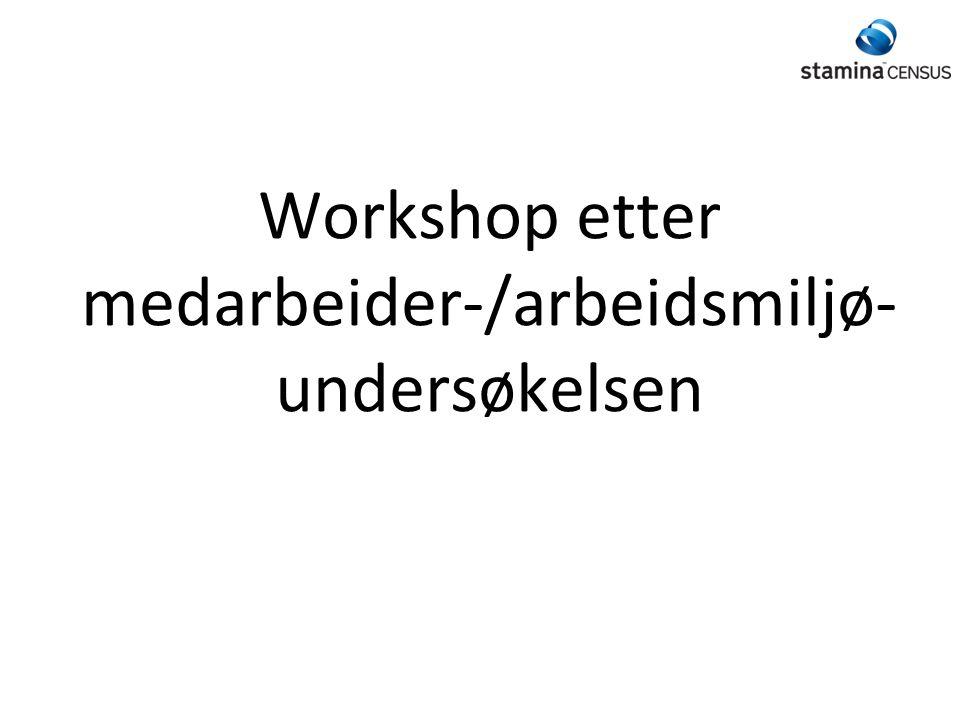 Workshop etter medarbeider-/arbeidsmiljø-undersøkelsen
