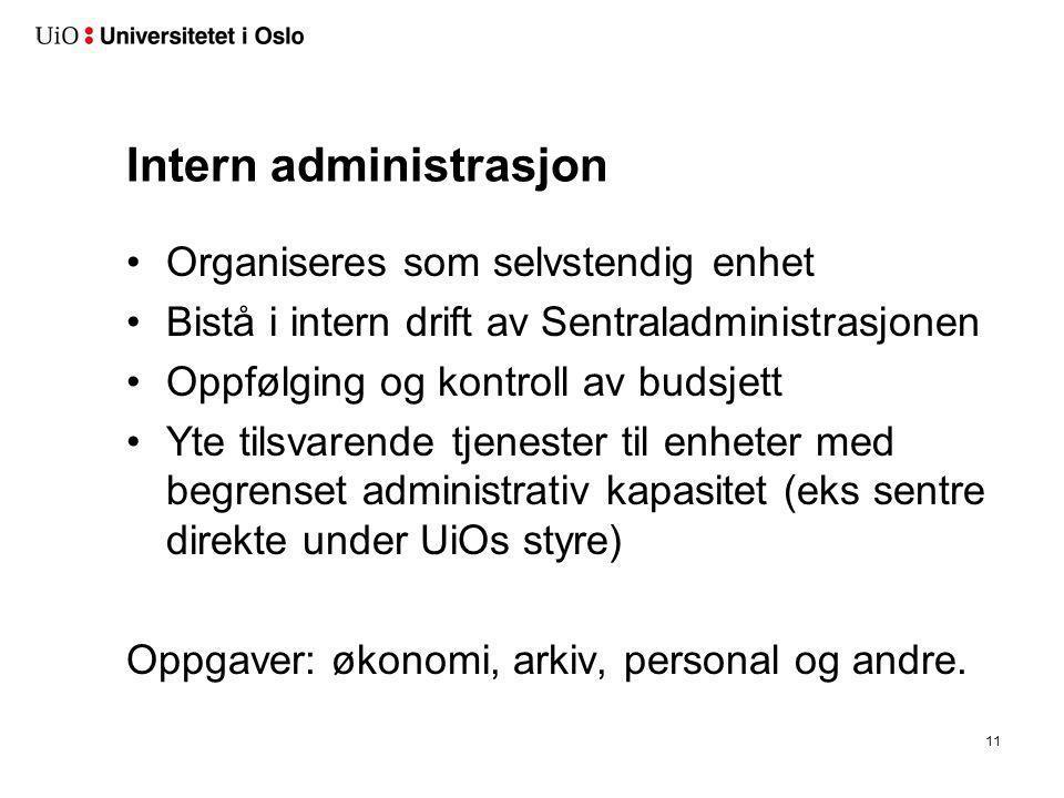 Personalstøtte Støtte UiO-ledelsen i utøvelse av