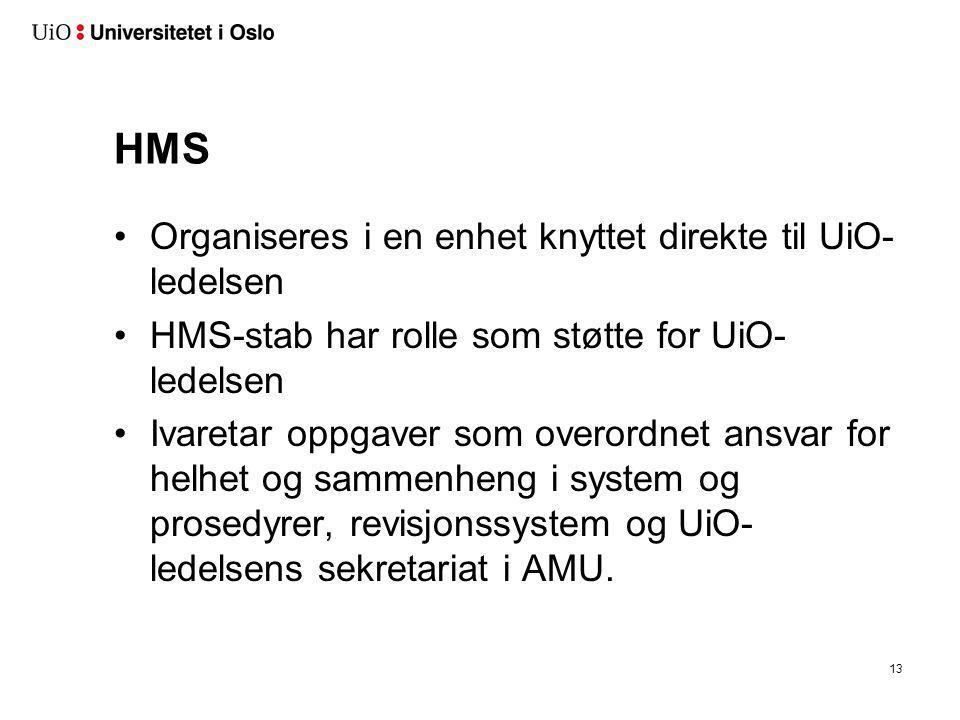 BHT Knyttes direkte til UiO-ledelsen