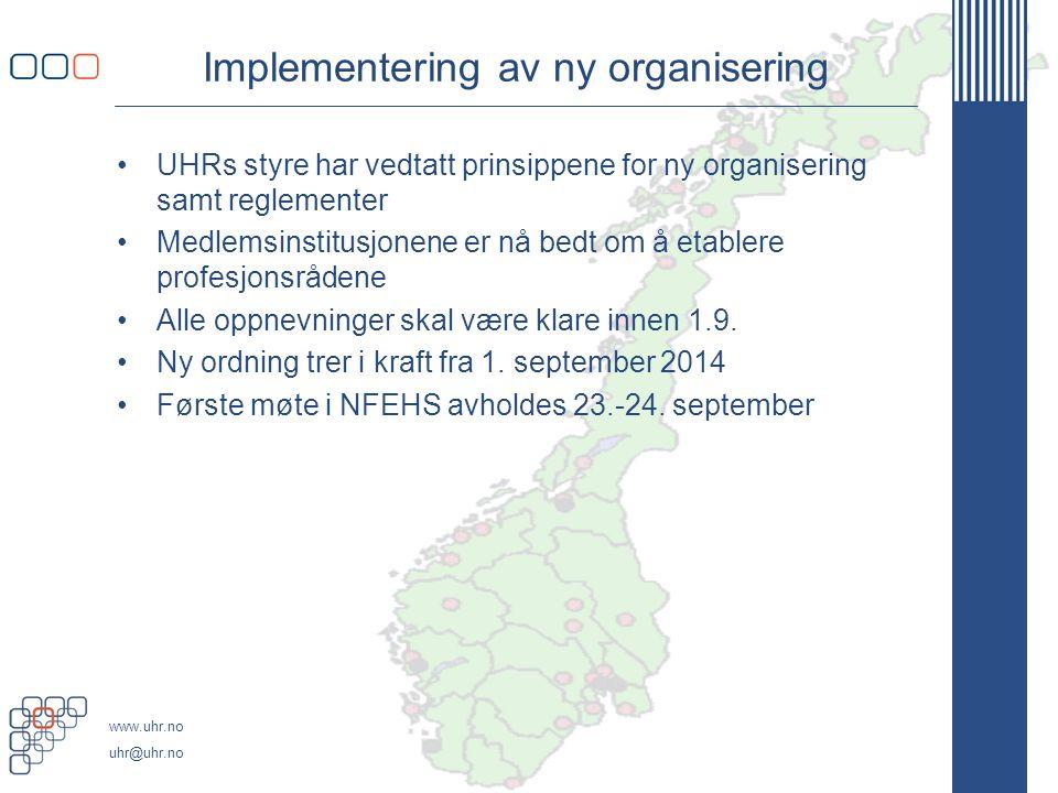 Implementering av ny organisering