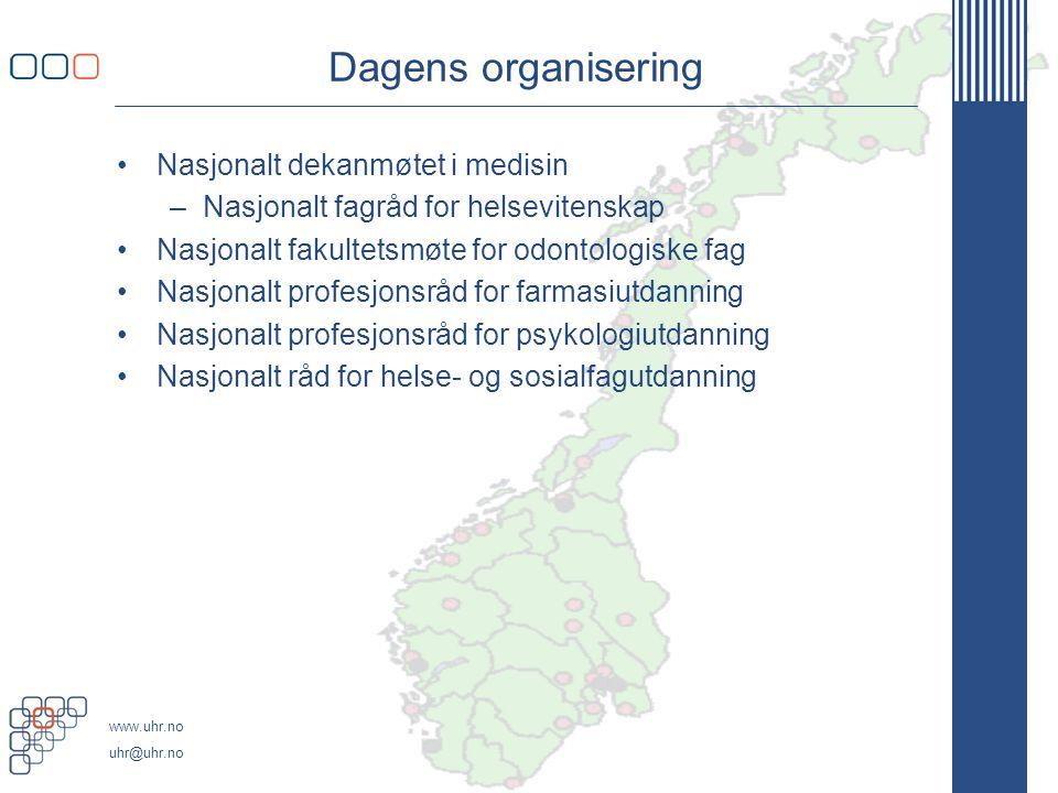 Dagens organisering Nasjonalt dekanmøtet i medisin