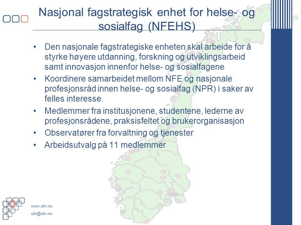 Nasjonal fagstrategisk enhet for helse- og sosialfag (NFEHS)