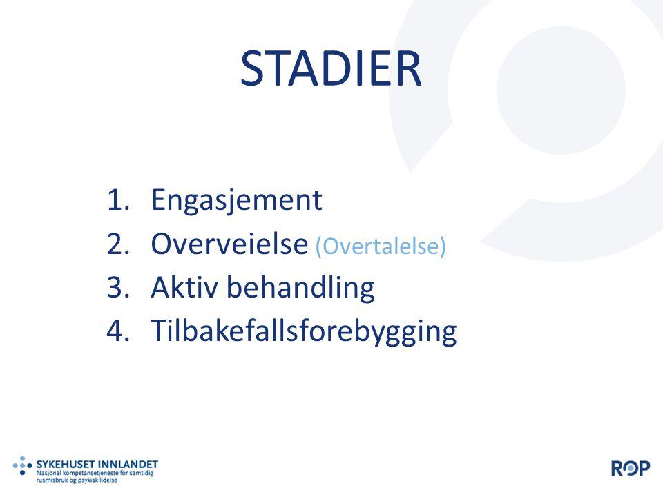 STADIER Engasjement Overveielse (Overtalelse) Aktiv behandling