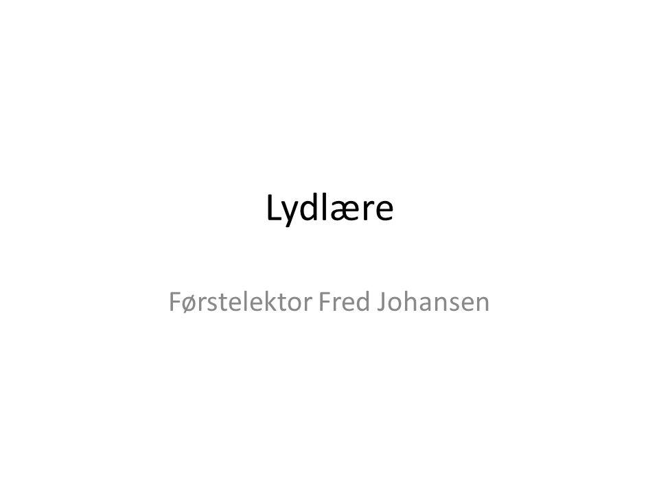 Førstelektor Fred Johansen