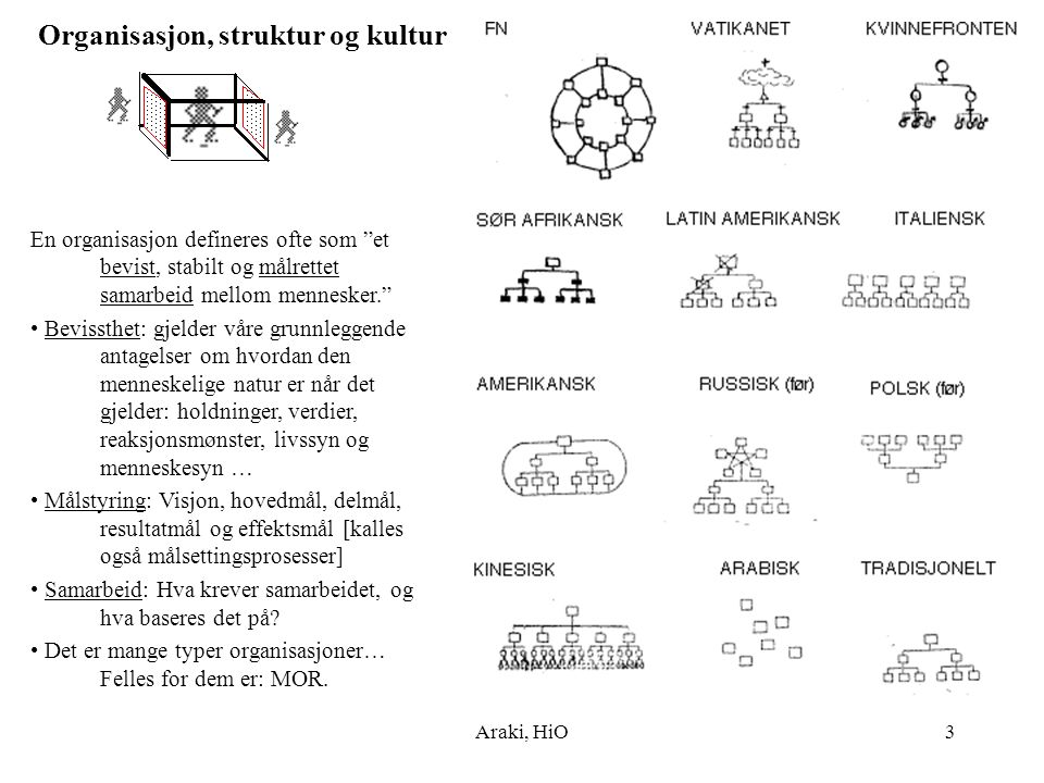 Organisasjon, struktur og kultur