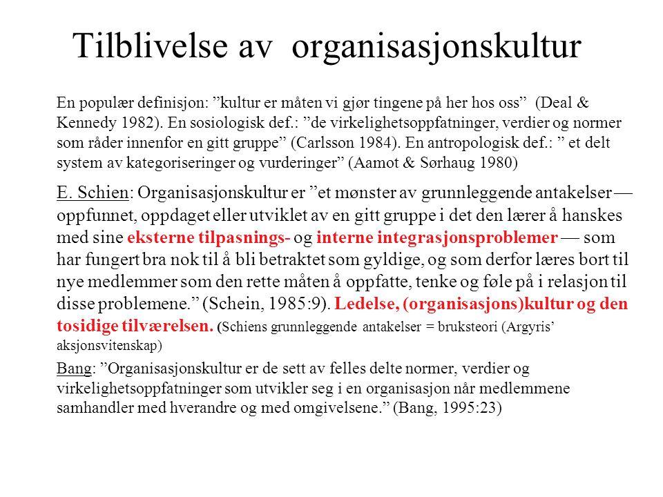 Tilblivelse av organisasjonskultur