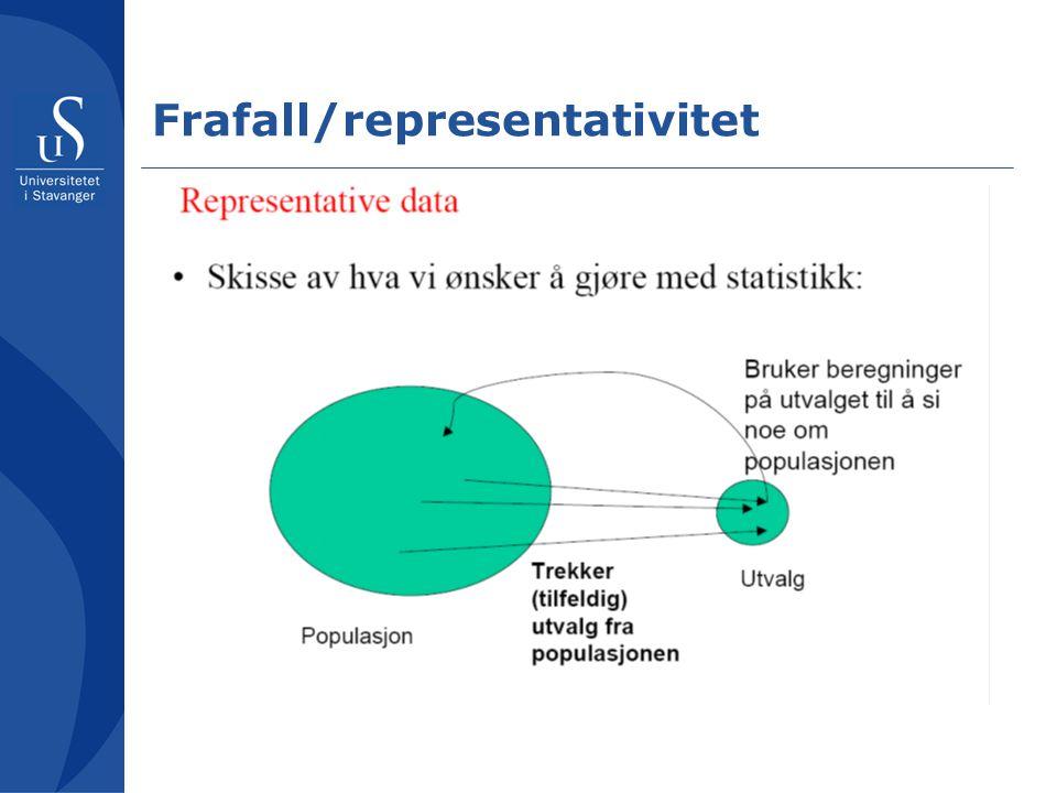 Frafall/representativitet