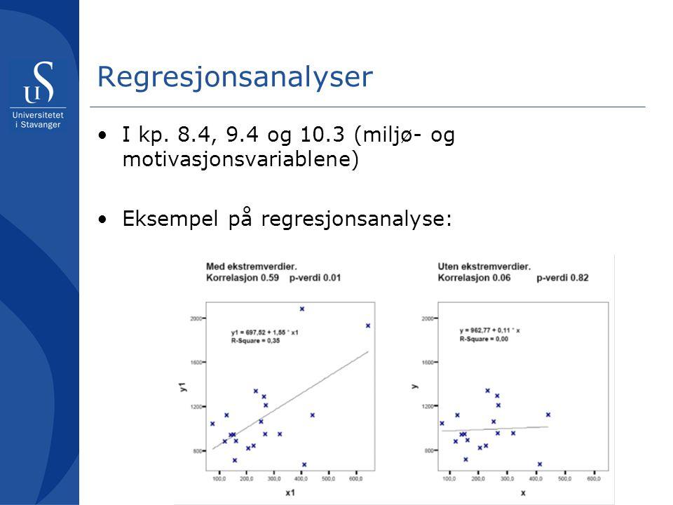 Regresjonsanalyser I kp.